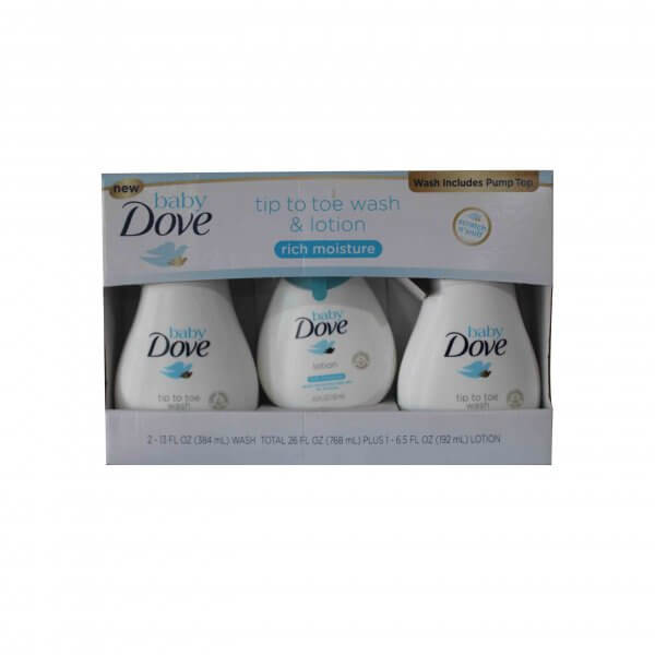 DOVE BABY WASH AND LOTION 192 ML