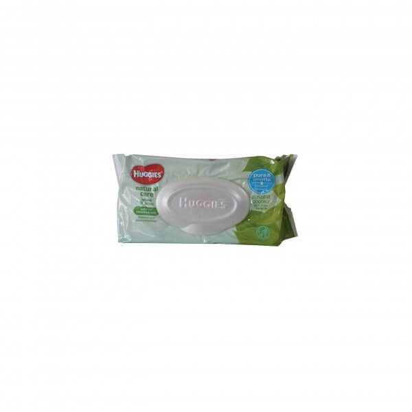 LINGETTE HUGGIESS NATURAL CARE 64 WIPES