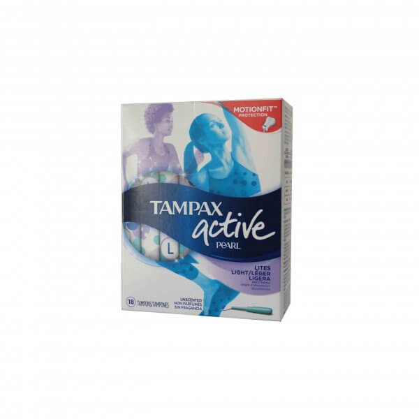 TAMPAX ACTIVE PEARL LEGER 18 TAMPONS
