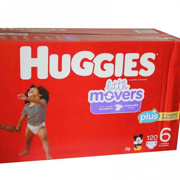 COUCHE HUGGIES LITTLE MOVERS T6 – 120 D